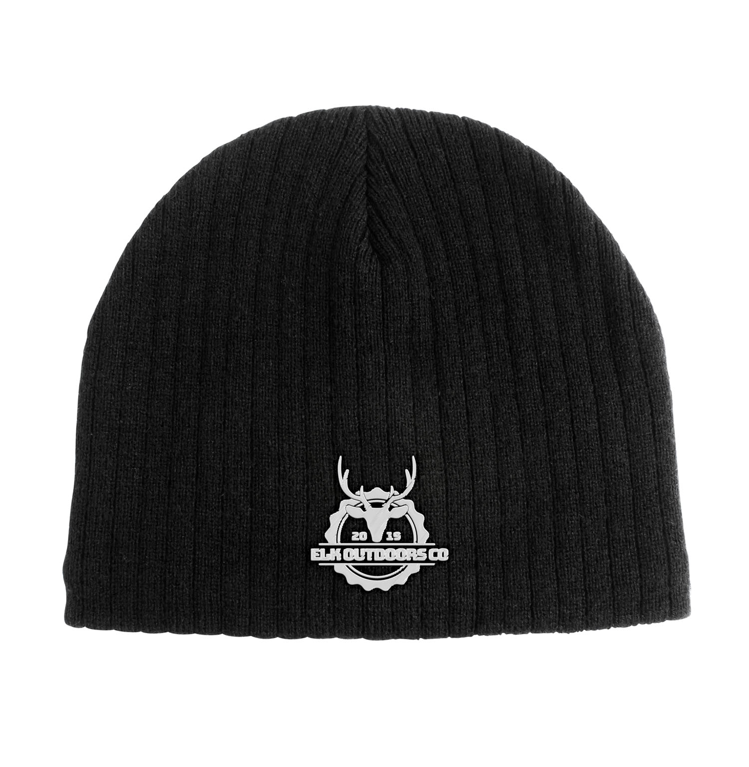 Cable Knit Beanie With Fleece Lining - Black